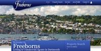 New Estate Agent website for Freeborns Letting and Commercial Agents in the Dartmouth