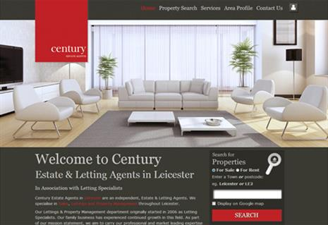 New website release for Century Estate Agents