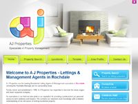 New website design for A J Properties in Rochdale