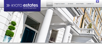 New website design for Kyoto Estates in Paddington