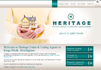 New website design for Heritage Estate Agents in Kings Heath