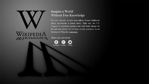 Wikipedia's blackout begins!