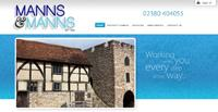 New website design for Manns and Manns Estate and Letting Agents Southampton