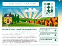New website design for Laceys Estate and Letting Agents in Yeovil