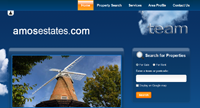 Brand New Amos Estate and Letting Agent website design