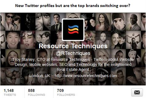 New Twitter profiles but are the top brands switching over?