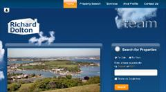 New website design for Richard Dolton Estate Agents in the Torpoint