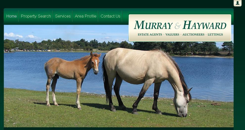 New website design for Murray and Hayward Estate Agent in the New Forest