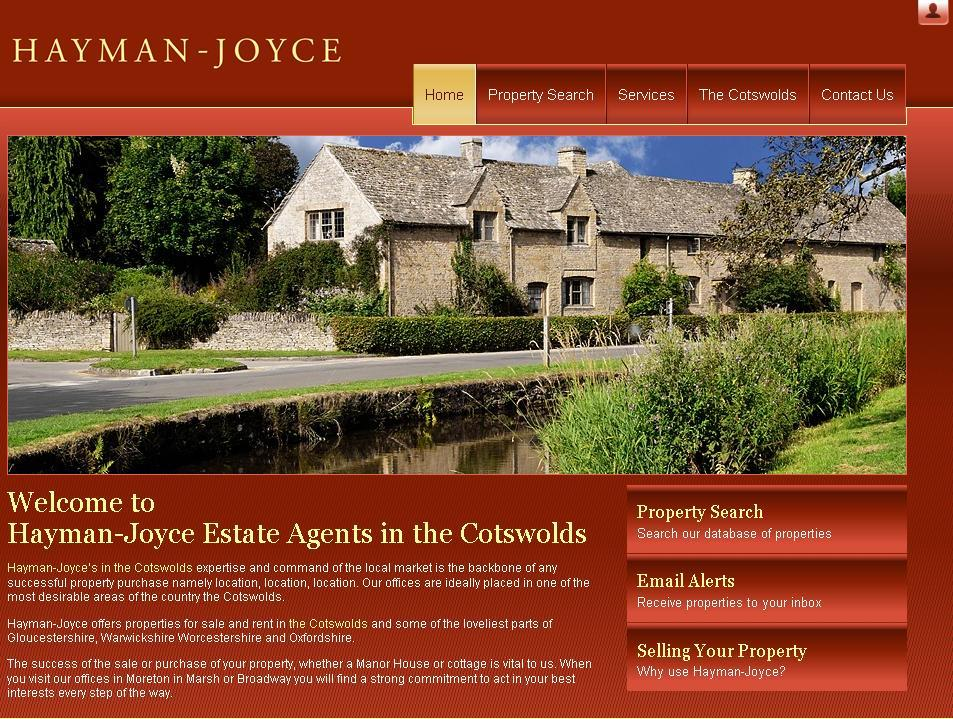 New website design for Hayman-Joyce Estate Agents in the Cotsworlds