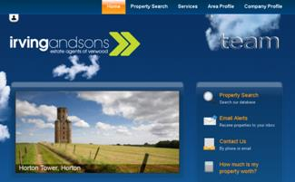 New website design for Irving and Sons Estate Agent in Verwood, Dorset