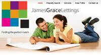 New website design for James Grace Lettings in Barnet, Hertfordshire