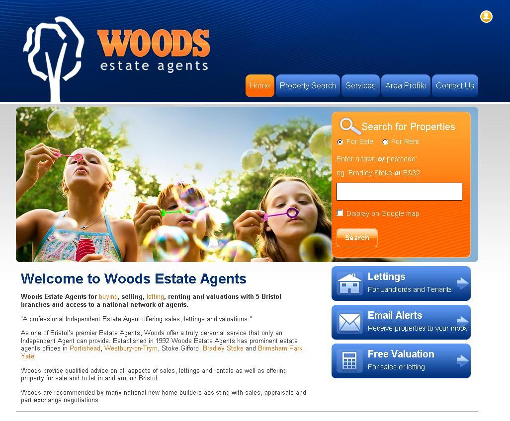 New website design for Woods Estate Agents in Portishead