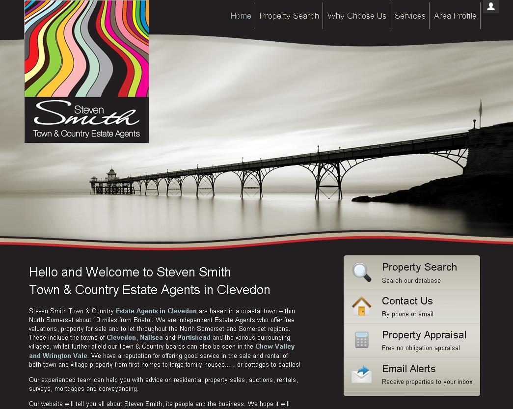New website design for Steven Smith Estate Agent in the Clevedon