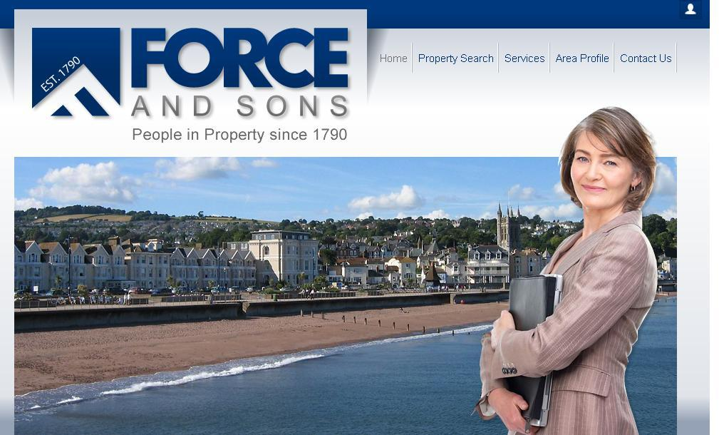 New website design for Force and Sons Estate Agent in Exeter, Teignmouth and Dawlish